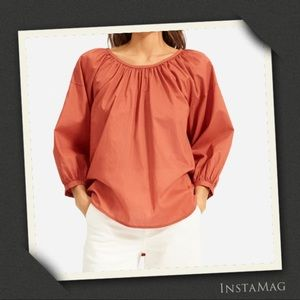 EVERLANE Ruched Air Blouse